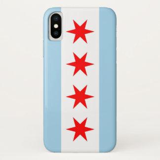 Patriotic Iphone X Case with Flag of Chicago