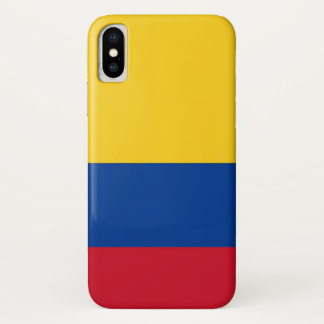 Patriotic Iphone X Case with Flag of Colombia