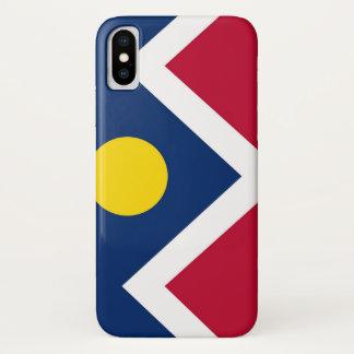 Patriotic Iphone X Case with Flag of Denver