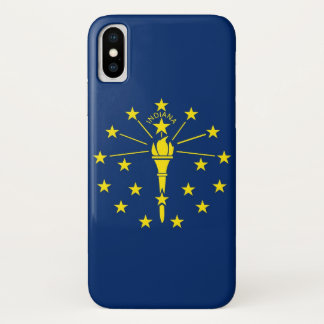 Patriotic Iphone X Case with Flag of Indiana