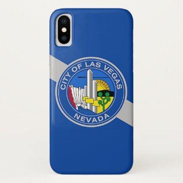 Patriotic Iphone X Case with Flag of Las Vegas