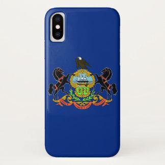 Patriotic Iphone X Case with Pennsylvania Flag