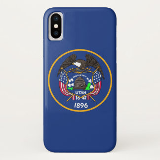 Patriotic Iphone X Case with Utah State Flag