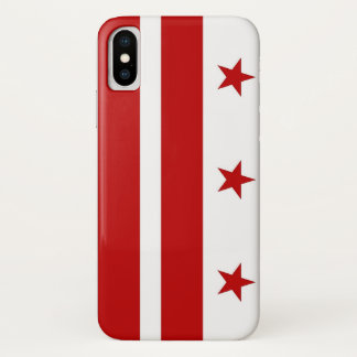 Patriotic Iphone X Case with Washington DC Flag