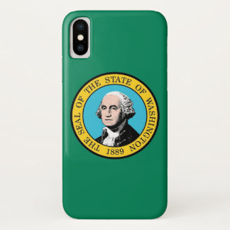 Patriotic Iphone X Case with Washington State Flag