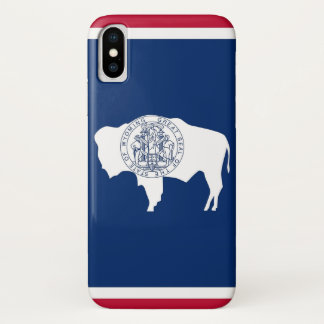 Patriotic Iphone X Case with Wyoming Flag