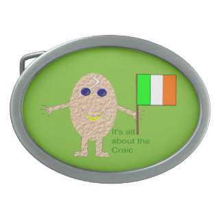 Patriotic Irish Egg Belt Buckle