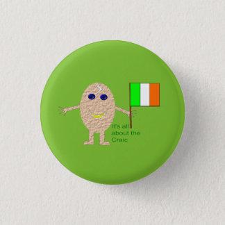 Patriotic Irish Egg Button