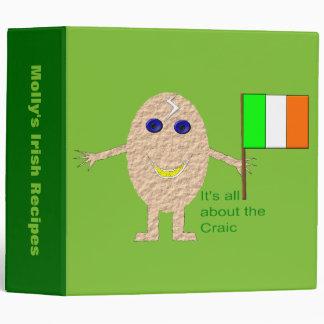 Patriotic Irish Egg Custom Recipe Binder