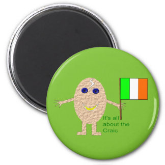 Patriotic Irish Egg Magnet