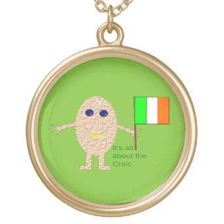 Patriotic Irish Egg Necklace