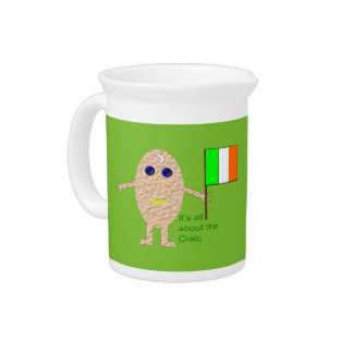 Patriotic Irish Egg Pitcher