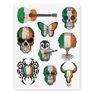 Patriotic Irish Flags Collection Temporary Tattoos