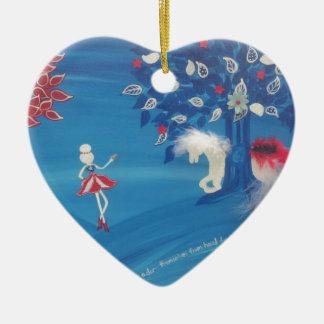 Patriotic Isabella Ceramic Ornament