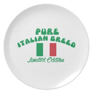 Patriotic Italian designs Dinner Plate