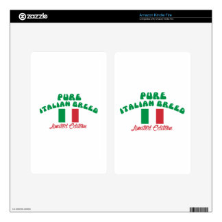 Patriotic Italian designs Kindle Fire Decals