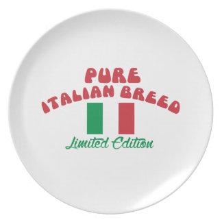 Patriotic Italian designs Plates