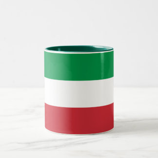 Patriotic Italian Flag Two-Tone Coffee Mug