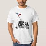 Patriotic Iwo Jima American Flag Freedom WWII Shirt
