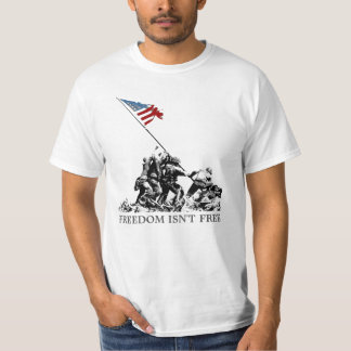 Patriotic Iwo Jima American Flag Freedom WWII T-Shirt