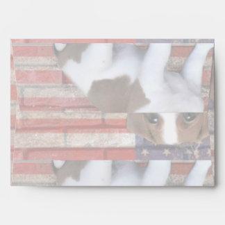 Patriotic Jack Russel Terrier Envelope