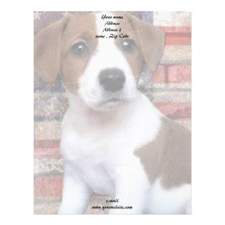 Patriotic Jack Russel Terrier Letterhead