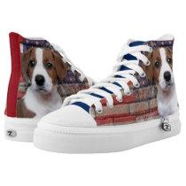 Patriotic Jack Russel Terrier tennis shoes