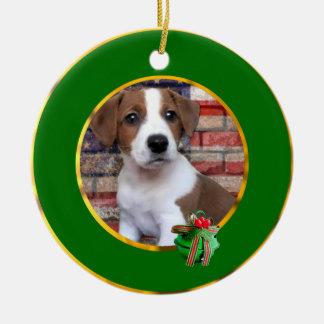 Patriotic Jack Russell Terrier Ceramic Ornament