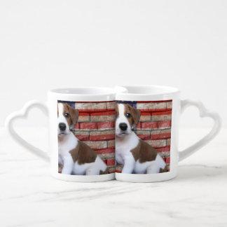 Patriotic Jack Russell Terrier Coffee Mug Set