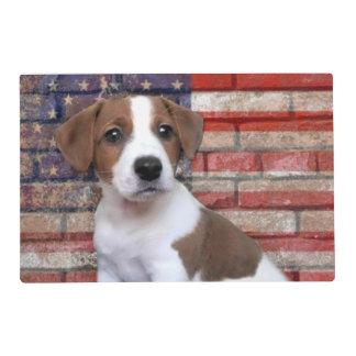 Patriotic Jack Russell Terrier Placemat