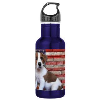 Patriotic Jack Russell Terrier Stainless Steel Water Bottle