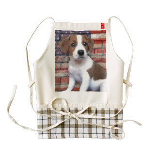 Patriotic Jack Russell Terrier Zazzle HEART Apron