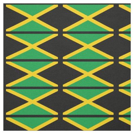 Patriotic Jamaica Flag Fabric