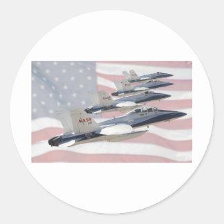 Patriotic Jets Classic Round Sticker