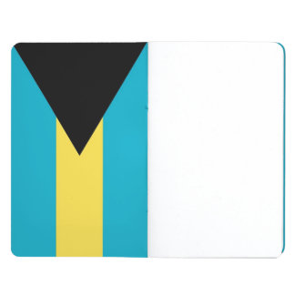 Patriotic journal with Flag of Bahamas