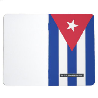 Patriotic journal with Flag of Cuba