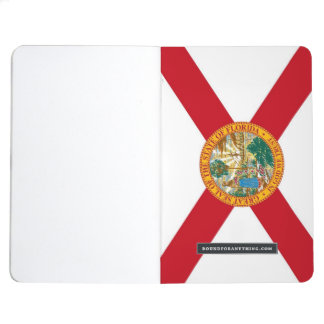 Patriotic journal with Flag of Florida