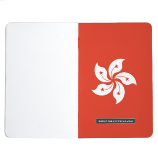 Patriotic journal with Flag of Hong Kong