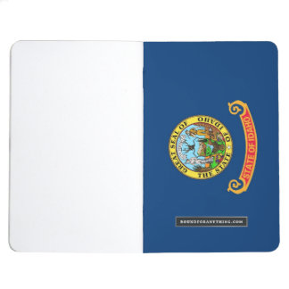 Patriotic journal with Flag of Idaho
