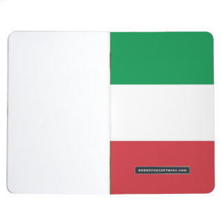 Patriotic journal with Flag of Italy