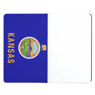 Patriotic journal with Flag of Kansas