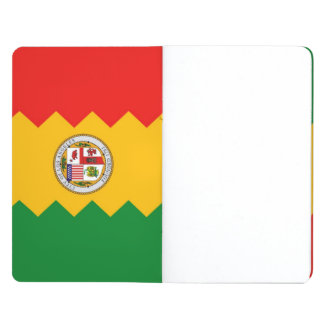 Patriotic journal with Flag of Los Angeles