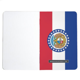 Patriotic journal with Flag of Missouri