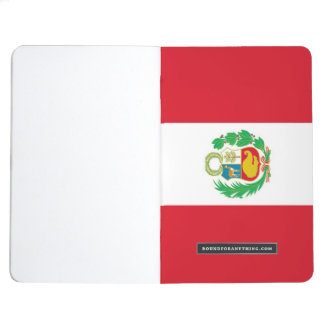 Patriotic journal with Flag of Peru