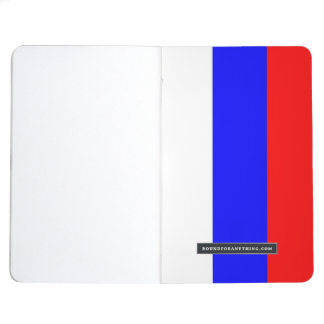 Patriotic journal with Flag of Russia