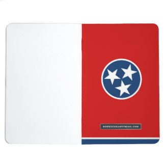 Patriotic journal with Flag of Tennessee