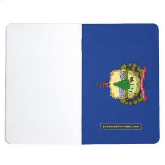Patriotic journal with Flag of Vermont