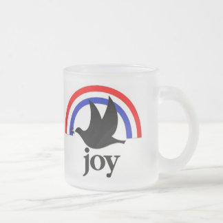 Patriotic Joy Frosted Glass Coffee Mug