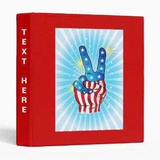 Patriotic July 4th Victory Hand w/ Stars & Stripes Binders