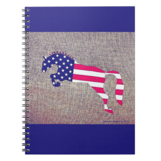 Patriotic Jumper red white and blue notebook